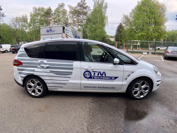 Auto beletteren voor TM Technics.