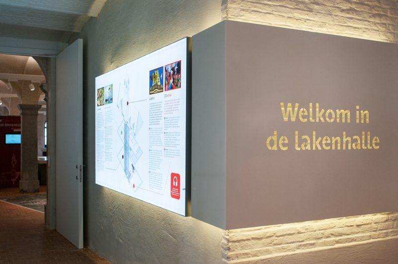 Lightbox in het Belfort in Dendermonde.