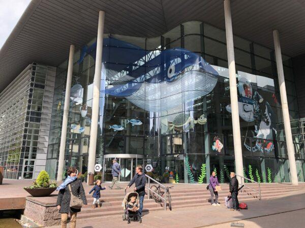 Bestickering raam, groot formaat bestickering, sticker raam van de BIB in Genk.