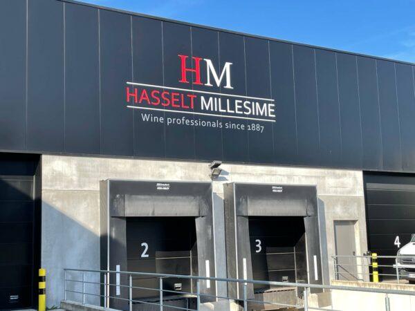 Logo en Letters op gebouw van Hasselt Millesime